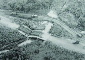 An overhead shot of Ap Tau O, where the A Troop was ambushed by the 272nd Viet Cong Regiment, fighting the numerically superior force off for nearly five hours. The picture shows the site where a VC IED disabled the forward tank.